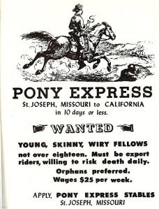 Pony Express Advert