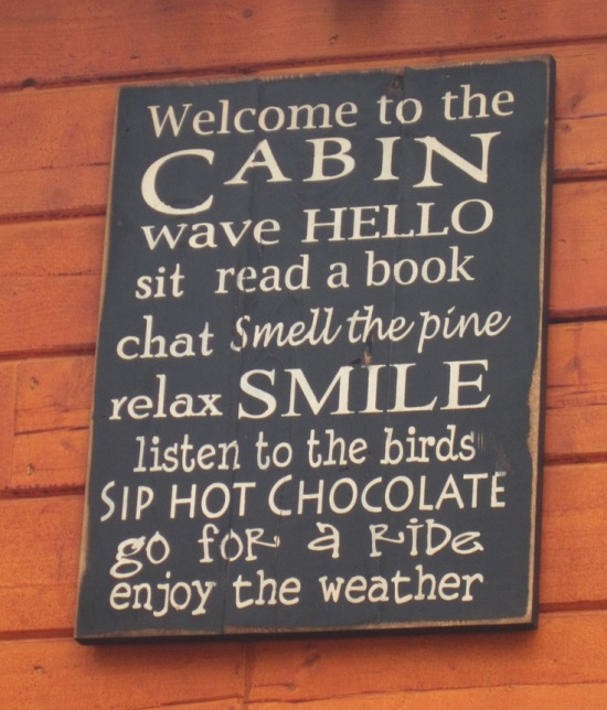 Welcome to the Cabin Sign