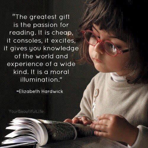 Children- Reading A Wide Illumination