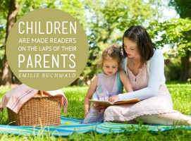 Children- Reading- On the Laps of Their Parents
