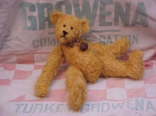 Butters- Old Gold Sparse Curly-Matted Mohair Bear with Wobble Joints