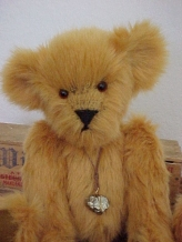 Grumpy Gus- Synthetic Faux Mohair with an Iron Pyrite, Wire-wrapped Fool's Gold Pendant