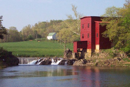 Dillard Mill on Huzzah Creek in Crawford County, Missouri