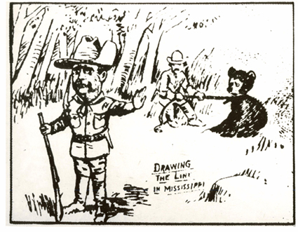 Teddy Roosevelt early cartoon