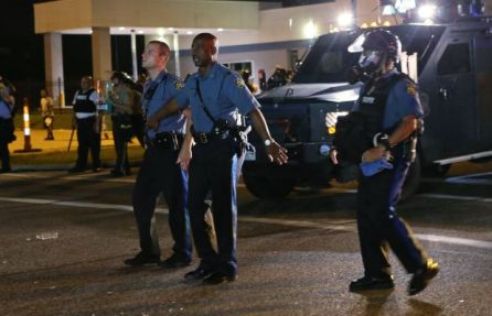Photo courtesy of St. Louis Post-Dispatch-- Missouri State Patrol Captain Ronald Johnson, 08-18-2014