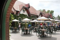 Grant's Farm in St. Louis, Missouri Beer Garden Hospitality Area- the Bauernhof