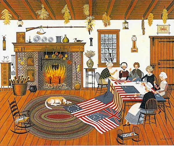Charles Wysocki Art, Making Flags
