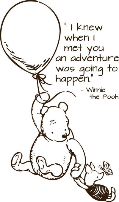 Winnie the Pooh on an Adventure with Piglet
