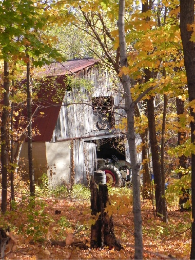 The Old Barn in Autumn, October
