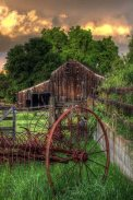 Old Barn with a Hay Rake ~ from Sun Baked Treasures