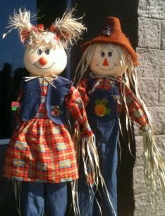 Shopkeeper Scarecrows