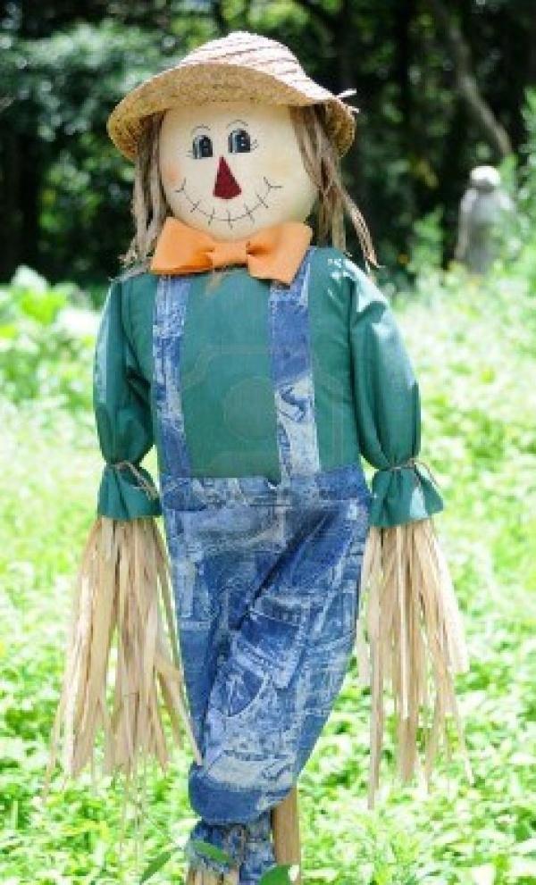 Scarecrow with the Orange Bow Tie