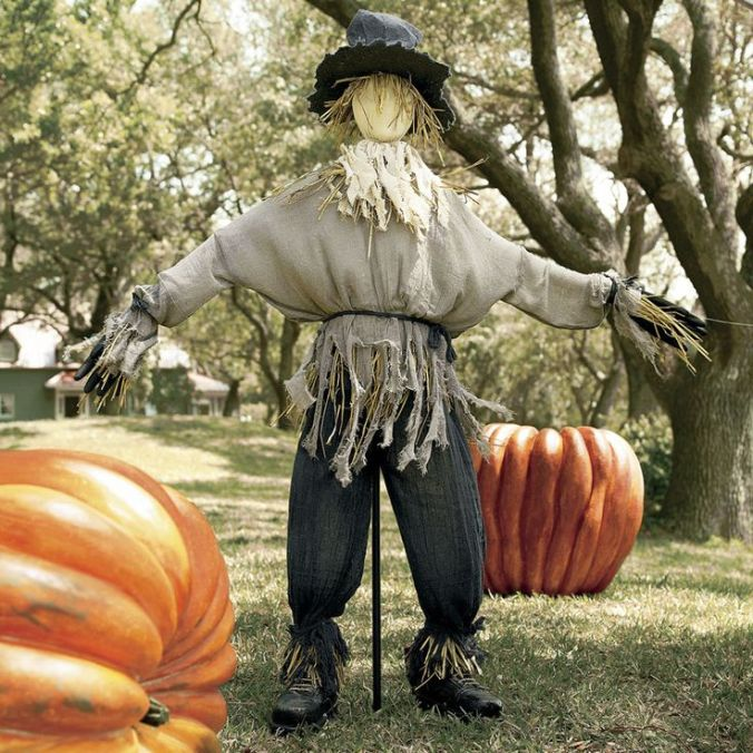 Scarecrow with the Pumpkins and Field Boots