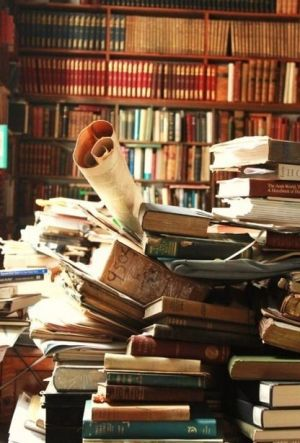 Stack of Books and Research