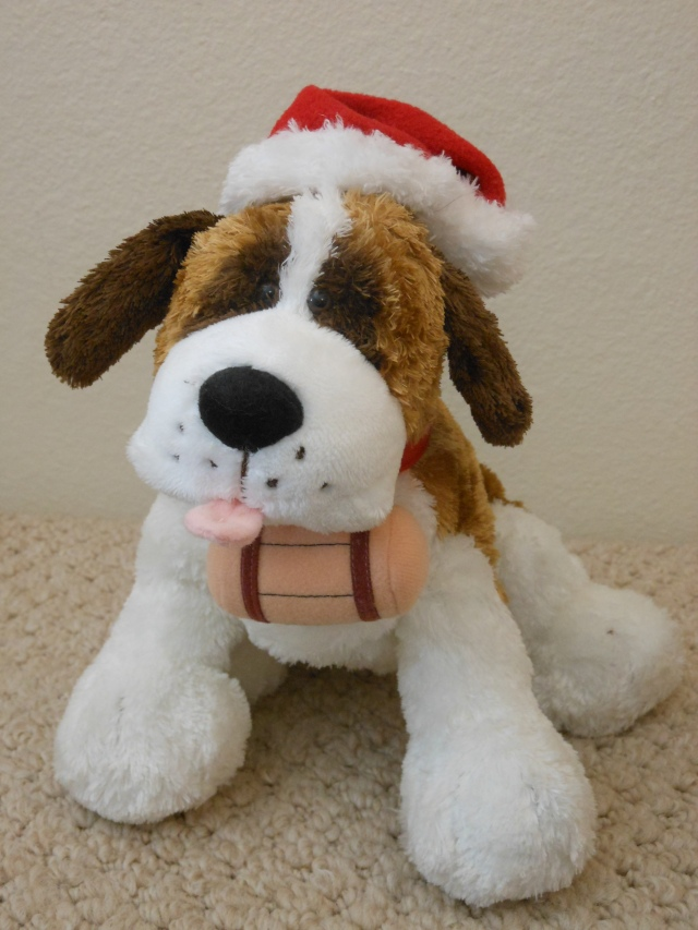 "Toy St. Bernard,  ""Ho, Ho, Ho!"" to you too, Santa."