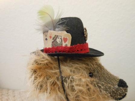 Milson, the Steampunk Bear-- German Mohair, Glass Eyes, by James Milson, 2014