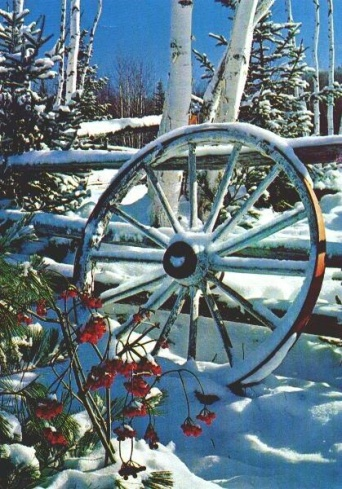 Wagon Wheel in Winter- found on family webshots.com