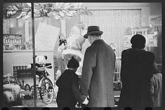 Christmas Store Front in Providence, Rhode Island- 1940