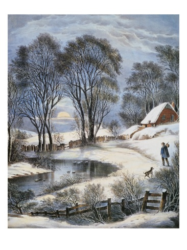 "Currier & Ives-- ""Winter Moonlight"""