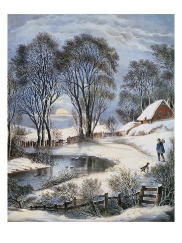 "Currier & Ives-- ""Winter Moonlight"""