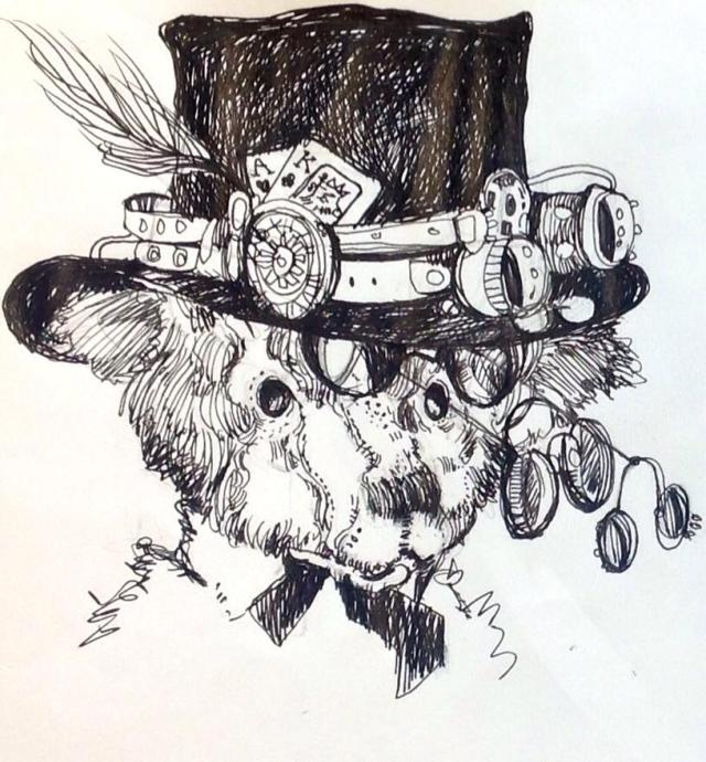 """Milson, the Steampunk Bear""- Original Art by Christine Southworth"