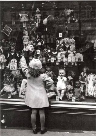 Vintage Christmas Store Window Display