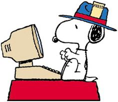 News Reporter Snoopy
