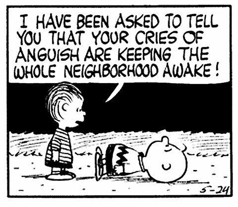 Peanuts- Charlie Brown- Anguish