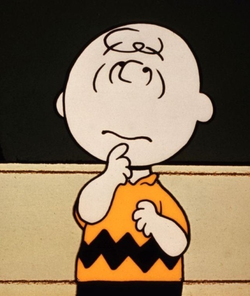 Peanuts- Charlie Brown deep in thought