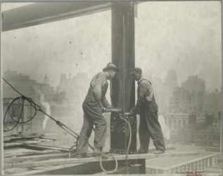 Vintage Construction Site Empire State Building 1
