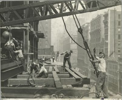 Vintage Construction Site Empire State Building 6