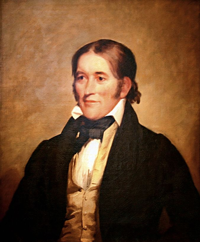 David (Davy) Crockett, Portrait by Chester Harding