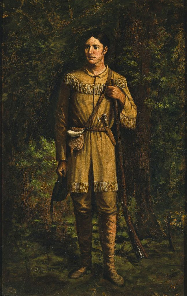Davy Crockett, Portrait by William Henry Huddle, 1889