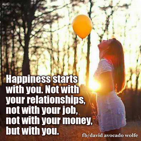 Quote- Happiness Starts With You