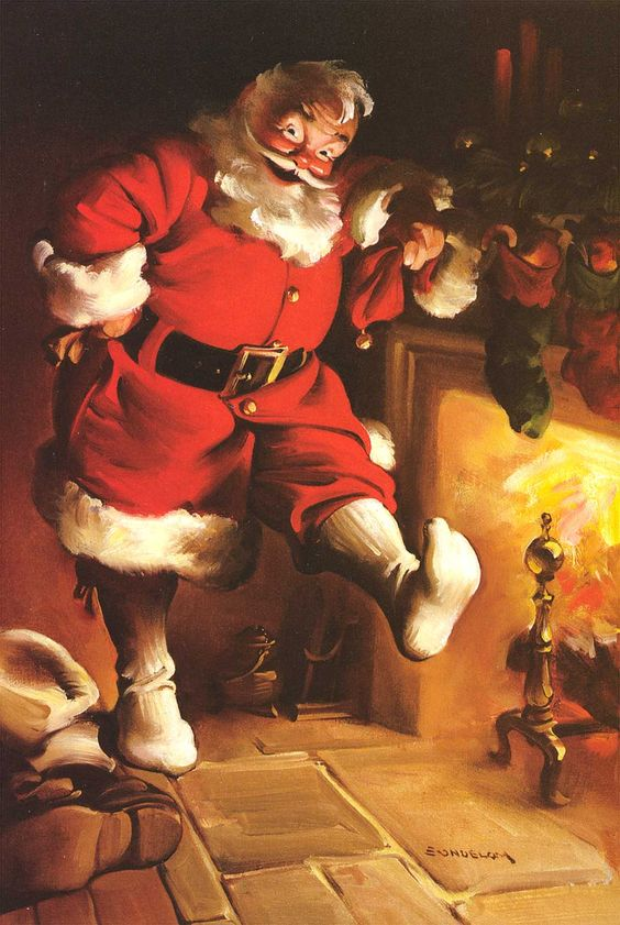 haddon-sundblom-coke-santa-by-the-fire-image