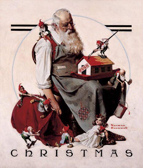 norman-rockwell-christmas-tired-santa