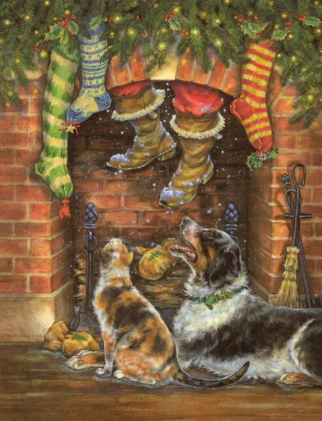 santa-with-dogs-by-donna-race
