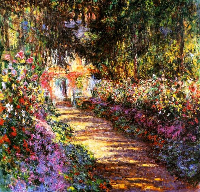 """The Flowered Garden"" -- by Claude Monet (1901-1902)"