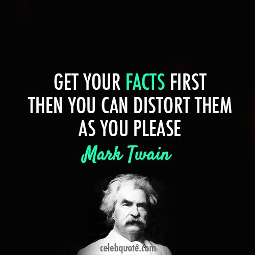 Quote- Mark Twain- Facts and Writing