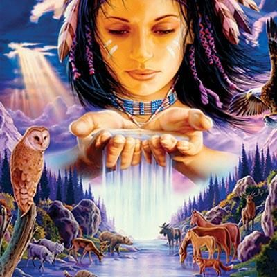 Nanyehi (Nancy Ward) of the Cherokee. (Artwork by David Behrens)