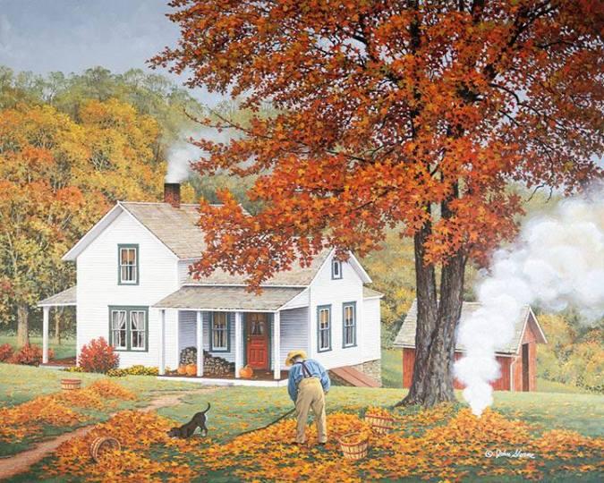 """Falling Leaves"" by John Sloane"