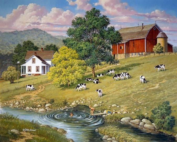 """Artwork by John Sloane -- """"Good Old Summertime"""""""