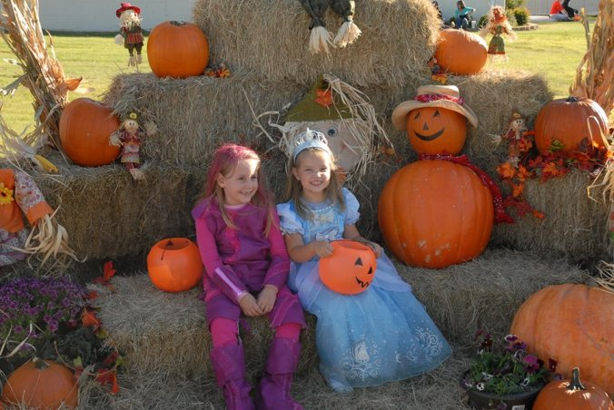 A Princess and Lava Girl Amongst the Pumpkins by Charles Morris.
