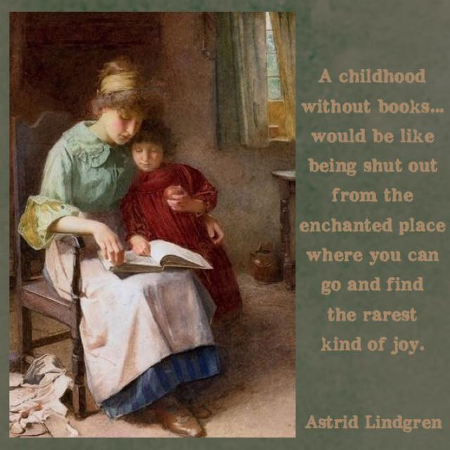 garden-of-bright-images-reading-children-art-by-carlton-alfred-smith