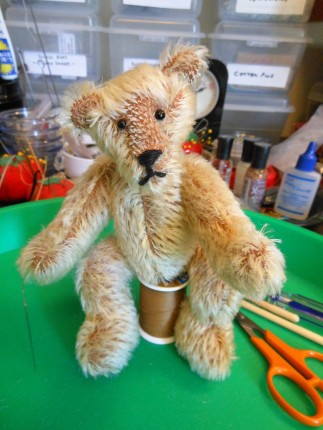 Mohair Mini Bear, Waiting His Turn To Be Finished