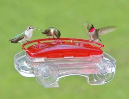 Window Suction Mount Hummingbird Feeder - via Fiddle Creek Farms