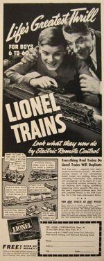 Vintage Lionel Ad 1