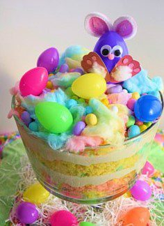 Cotton Candy Easter Trifle (Recipe and Image by the Blessed Beyond Crazy Blog)