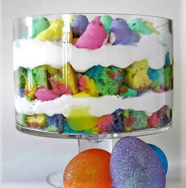Easter Peeps Trifle (Recipe and Image by the Shake, Bake, and Party Food Blog)